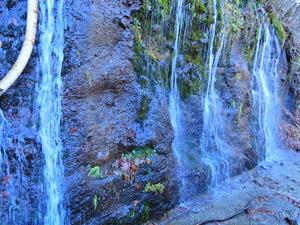 長寿の滝の水を汲みに