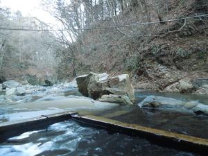川岸露天風呂からの眺め
