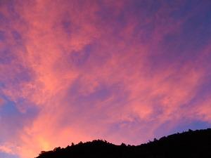 見事な夕焼け空