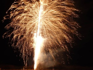 りんどう湖イルミネーションと冬の花火