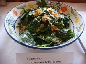 シンプルなほうれん草のサラダ