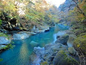 留春の吊橋と留春の滝2017.11.7