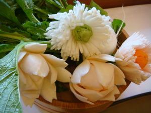 かぶの飾り花