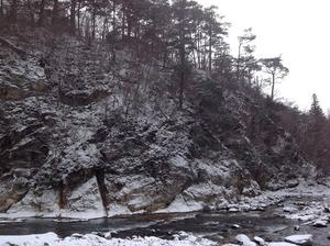 塩原渓谷の冬景色