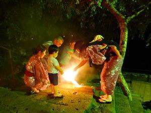 夜のファミリー花火大会