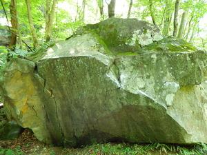 この石でボルダリング練習の人も