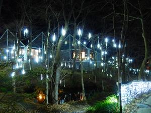 藤城清治美術館のイルミネーション