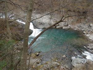 観瀑台からの眺め(上流)