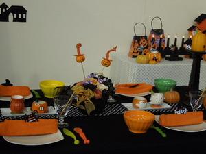 ハロウイーンのテーブル