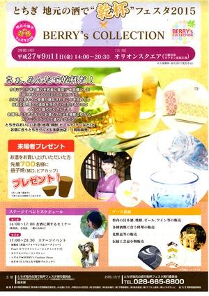 栃木の地酒で乾杯!