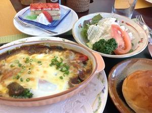 野菜カレーグラタン