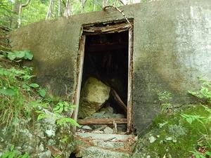 塩原の風穴入口