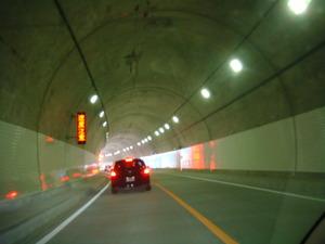 トンネル開通10分後