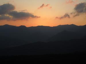 塩原でもこんな夕景が見られます。