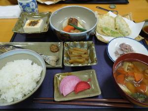 夕食のメニュー