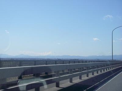 埼玉から見えた富士山