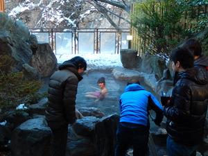 温泉の撮影