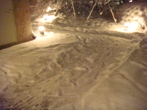 今冬初めての本格的な積雪