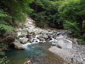 仙人岩つり橋上流