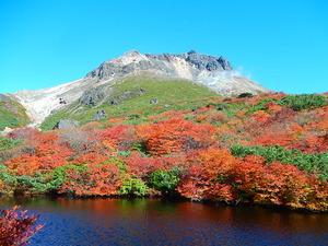 ひょうたん池と茶臼岳