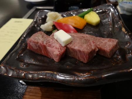 夕食・とちぎ和牛ステーキ