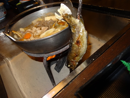 鮎と山賊鍋