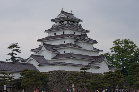 リニューアルした鶴ヶ城