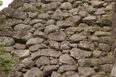 昔の名残の石垣