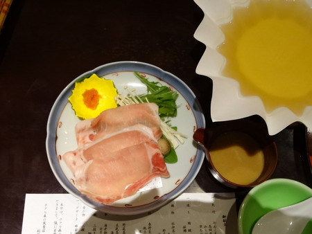 夕食 豚しゃぶ