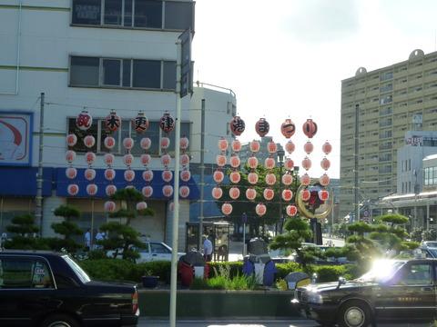 木更津港祭りの提灯