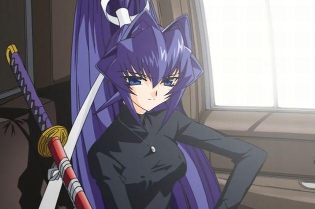 髪の毛 紫髪