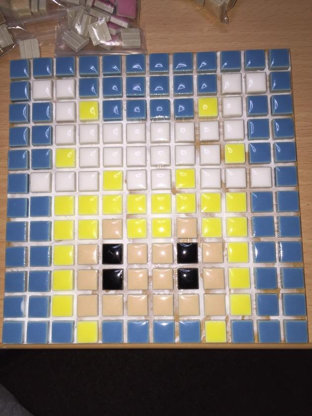 【創作】モザイクタイルアートで東方キャラの「藍しゃま」を作ってみたら・・・それっぽくて可愛い・・・!!(画像あり)