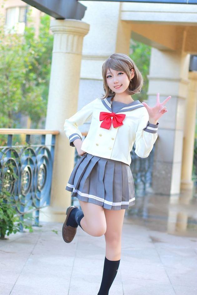 渡辺曜 コスプレ 中国 脸脸酱种蘑菇 ラブライブ!サンシャイン!!