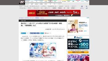 アニメ 水着回 ニコ生 海の日 7月17日