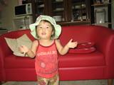 ママの帽子〜!