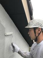 5-16壁面(SK水性ソフトサーフ)中塗り塗装2回目 (2)