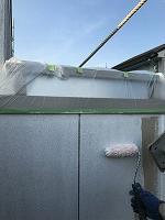 8-25外壁ソフトサーフ中塗り塗装(4)