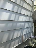 6-13南面、壁面(ニッペ4Fフッ素)上塗り塗装1回目4