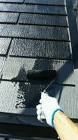 9-21屋根シリコンベスト上塗り1回目塗布