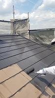 6-6屋根上塗りシリコンベスト塗布1回目 (2)