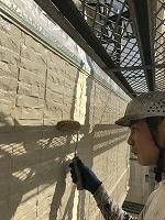 9-26外壁4Fフッ素上塗り2回目塗布 (1)