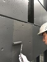 8-13外壁南面ファインSi上塗り3回目塗装(1)