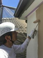 6-9外壁断熱ガイナ上塗り1回目塗布3