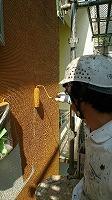 6-1外壁上塗りダイナミックトップ塗布1回目1