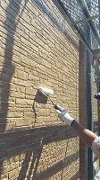 8-6外壁東西南面UVプロテクトクリヤー上塗り3回目塗装5