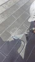 7-10屋根高圧洗浄作業