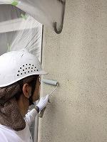 5-24外壁エポキシ系シーラーエコ下塗り塗布2
