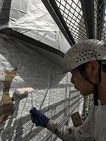 9-23壁面(SK水性ソフトサーフ)中塗り塗装1