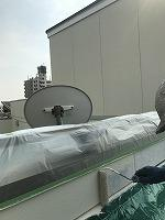 8-29外壁ラジカルコートパーフェクトトップ上塗り1回目塗装(2)
