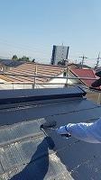 9-26屋根サーモアイ遮熱フッ素上塗り1回目塗布 (3)